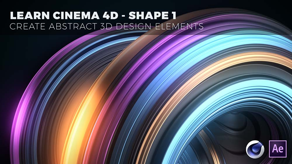 learn Cinema 4D create abstract design elements-shape-1